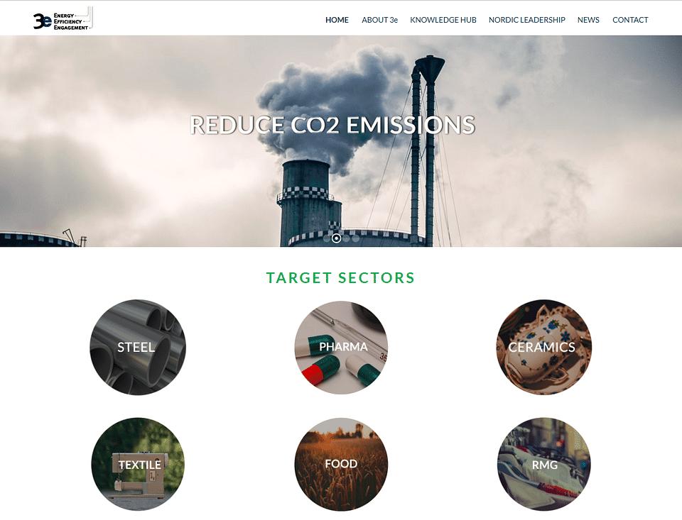 Website for 3e - Energy Efficiency Engagement