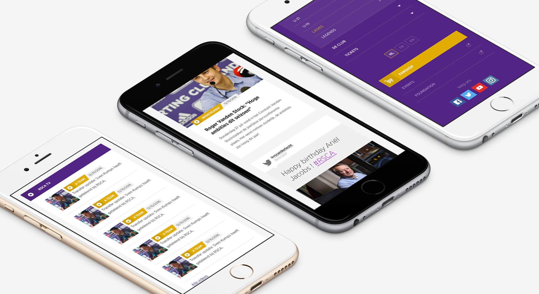Agency Calibrate for Website RSCA Anderlecht - Web Applicatie
