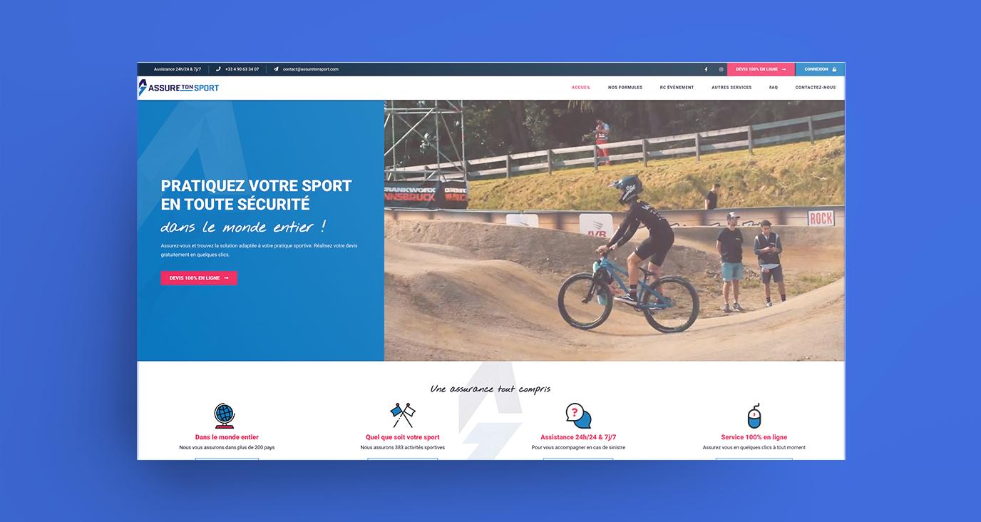 Le spécialiste de l'assurance sports en ligne - Création de site internet