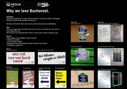 WHY WE LOVE BUCHAREST - Advertising