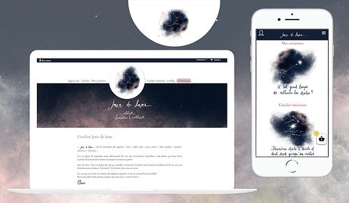 Atelier Jour de Lune - Création site WooCommerce - E-commerce