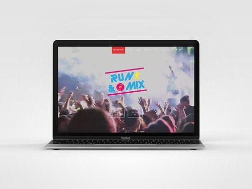 Site événementiel Run & Mix - Création de site internet