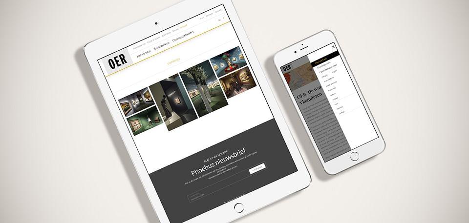 Responsive website voor de tentoonstelling OER