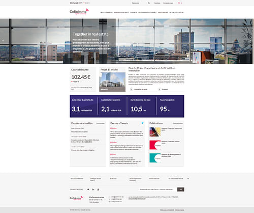 cofinimmo website - Création de site internet