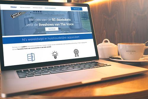 Haier Benelux - Website Creatie