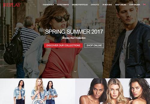 Replay Greece Official Website Design - E-commerce