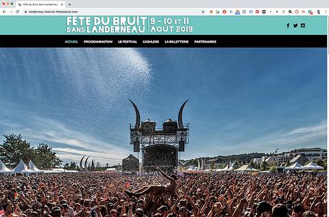 FESTIVAL FETE DU BRUIT - SITE WEB