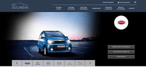 Dugardin - Groupe de concessions automobile - Référencement naturel