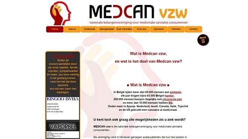 Medcan vzw - Website Creatie