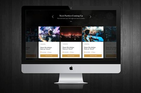 Club Booking Website on WordPress