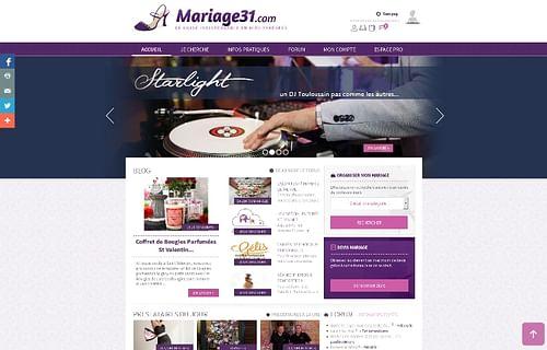 Mariage31 - Annuaire du Mariage - Création de site internet