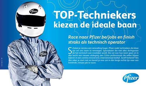 regionale HR campagne van Pfizer naar techniekers - Reclame