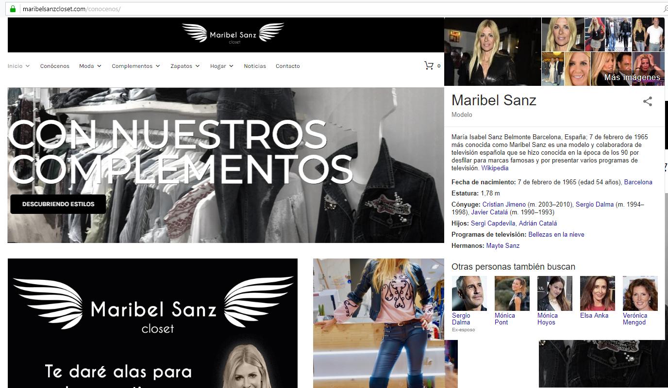 Tienda Online de Maribel Sanz - Creación de Sitios Web