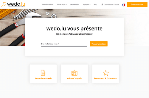 Wedo web portal - Graphic Design