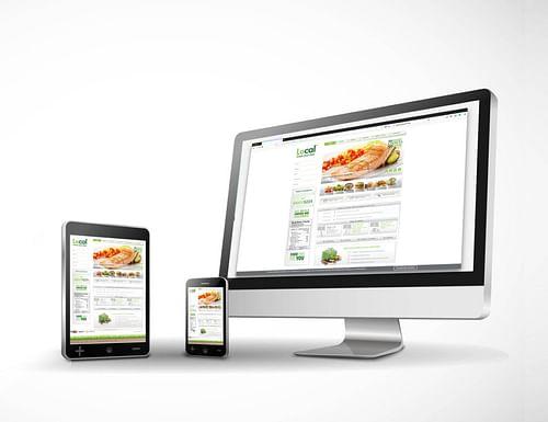 LoCal - LowCalorie health  restaurant concept - Website Creation