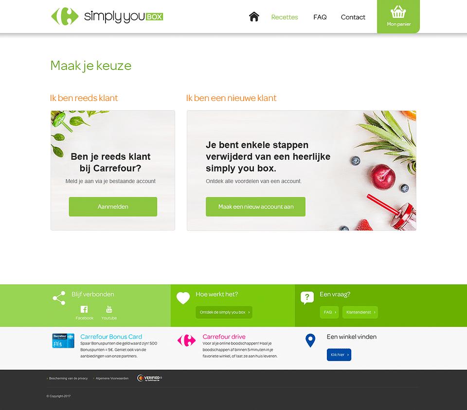 Web design for Carrefour