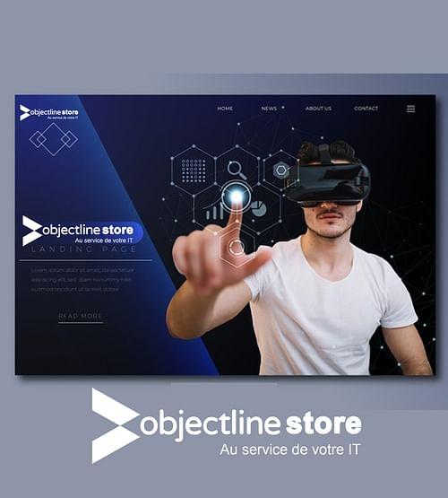 Création sites web e-commerce objectline-store.fr - Création de site internet