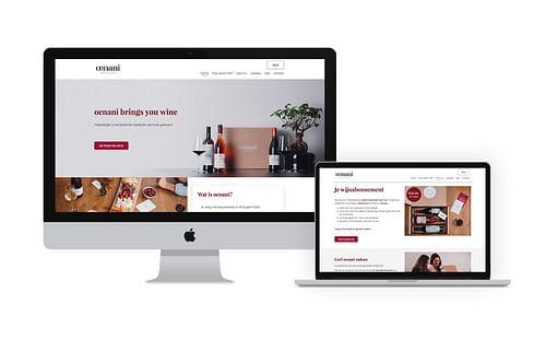Webshop voor oenani - Website Creatie