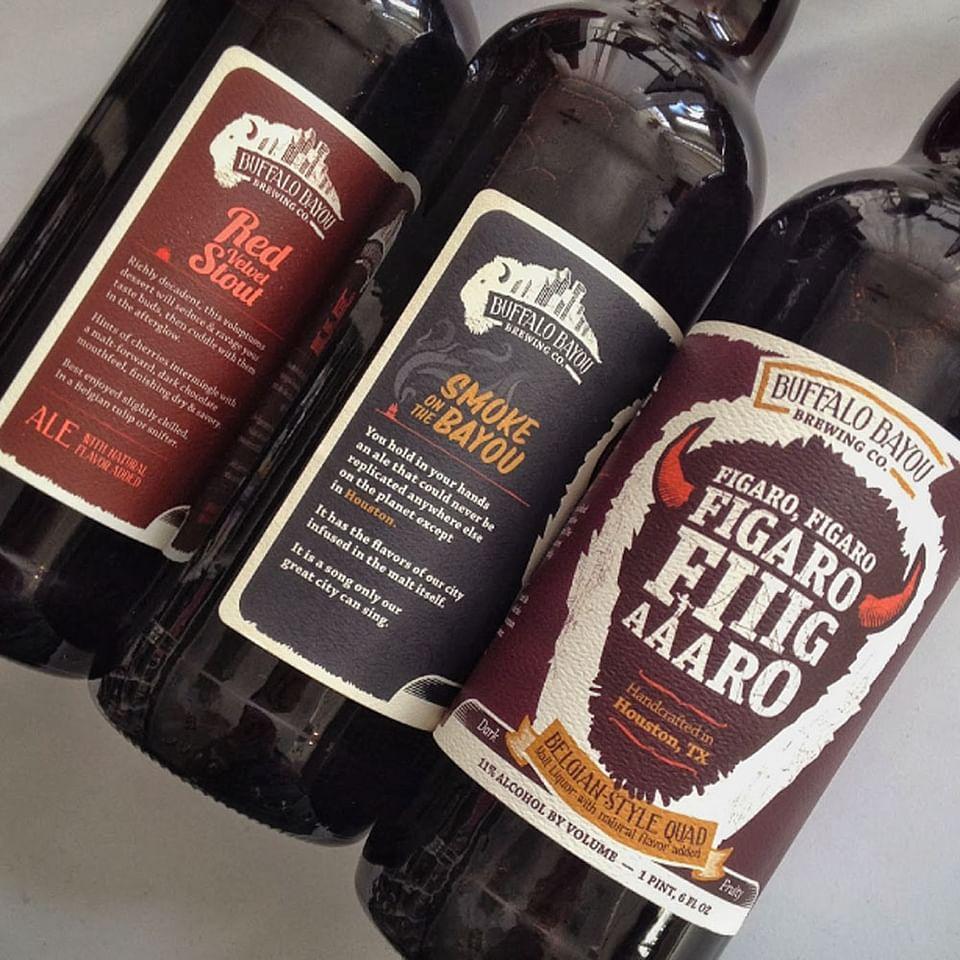 Buffalo Bayou Brewing Packaging Label Design