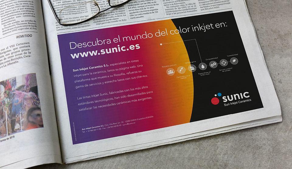 Diseño y lanzamiento página web SUNIC