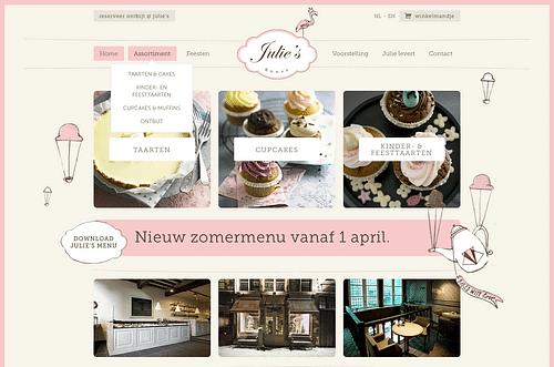 Online shop + menu - Website Creatie