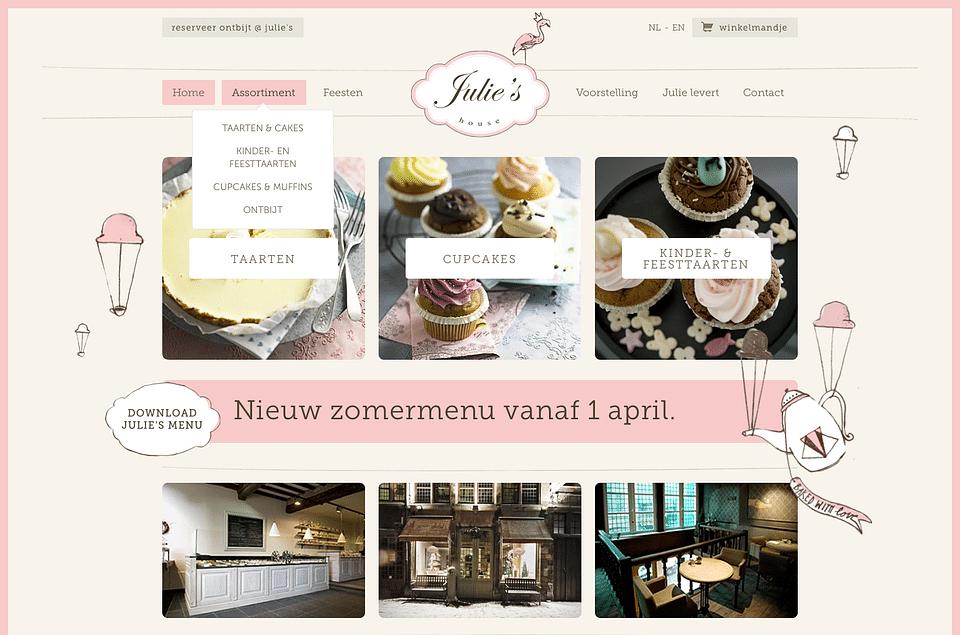 Online shop + menu