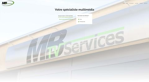 MB TV Services - Site Internet