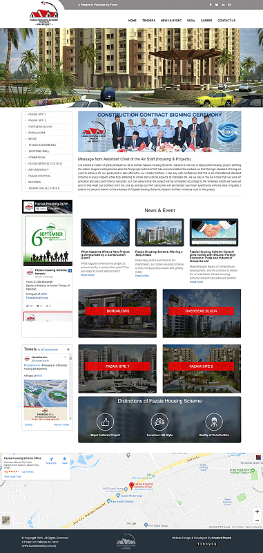 Fazaia Housing Scheme Karachi - Website Creation