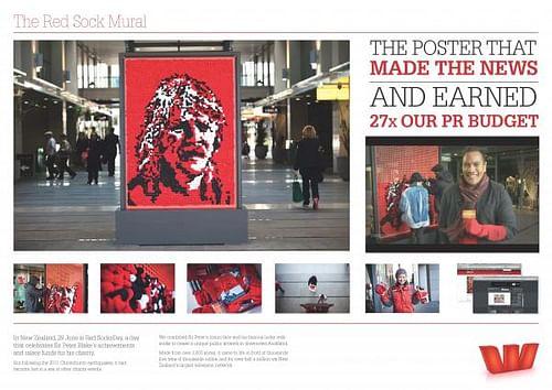 THE RED SOCK MURAL - Advertising