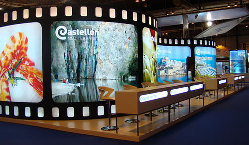STAND CASTELLÓN DE CINE EN FITUR - Diseño Gráfico