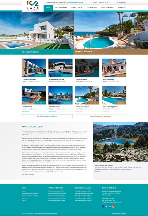 Página Web inmobiliaria para Kaza Exclusiva - Fotografía