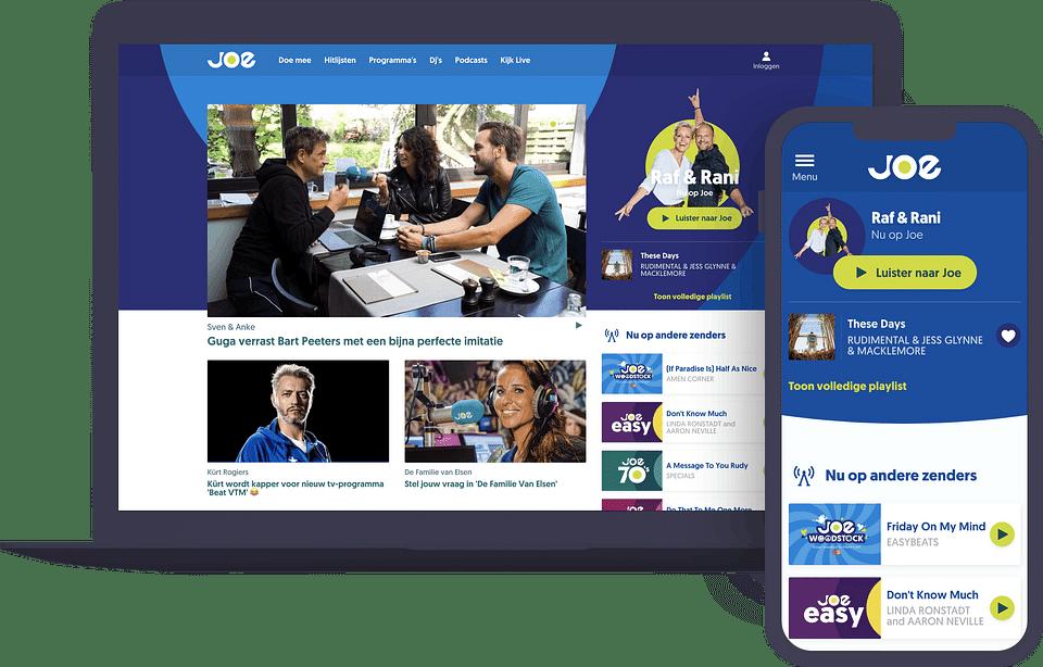 Website voor Joe België & Nederland