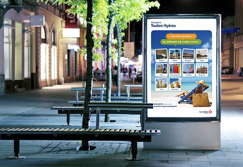 Vinci Airports (TLN) Display campaign