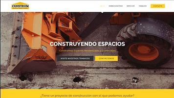"""Página web """"Standard"""" de construcciones y reformas"""