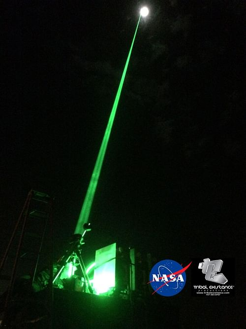 NASA ISS Extreme Space Sky Laser Light Projection - Advertising