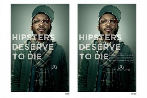 HIPSTERS DESERVE TO DIE - Advertising