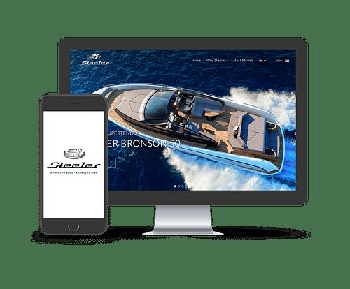 Steeler Yachts website - Web Applicatie