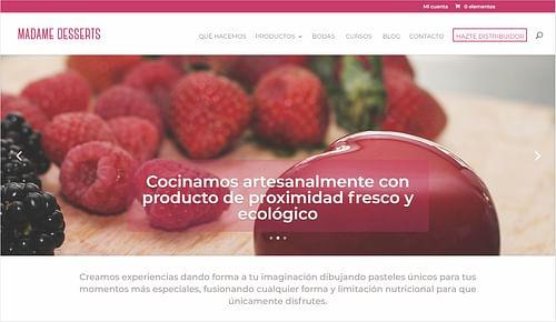 Ecommerce Madame Desserts - Creación de Sitios Web