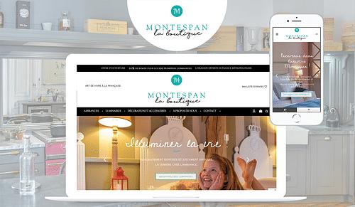 Montespan - Création boutique e-commerce mobilier - Création de site internet
