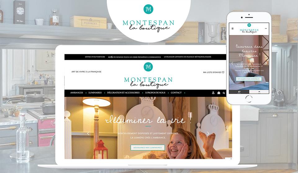 Montespan - Création boutique e-commerce mobilier