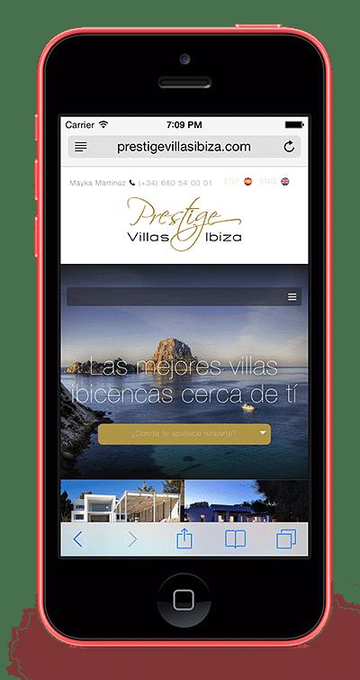 PrestigeVillas Website - Creación de Sitios Web
