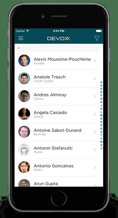 Event app for Devoxx Conference - Mobile App