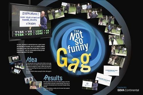 THE NOT SO FUNNY GAG - Publicidad Online