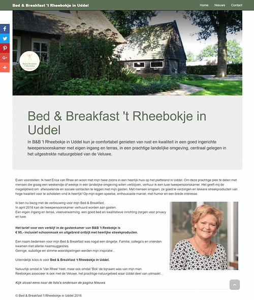 Webdesign en Social Media voor Bed & Breakfast - SEO
