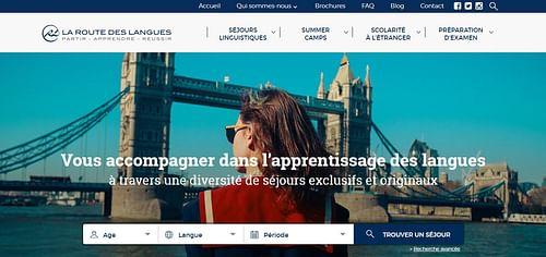 La Route des Langues - Publicité en ligne
