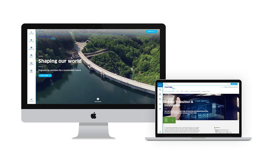 Website voor Tractebel - Engie