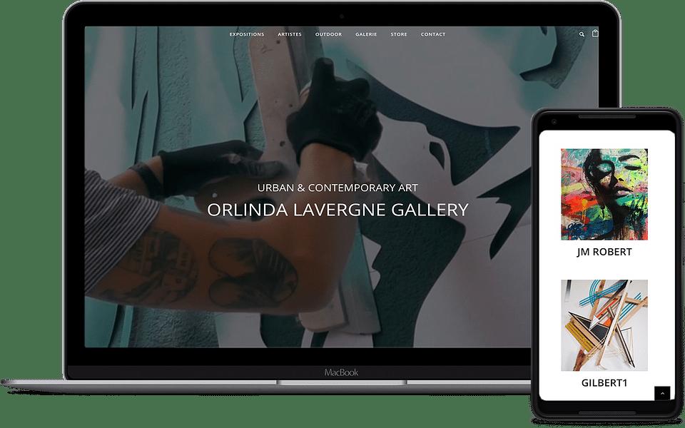 Refonte de l'interface web de la galerie Orlinda