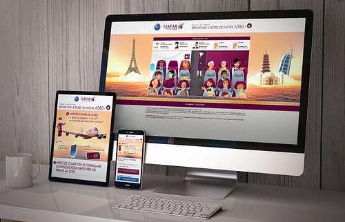 Illustrations et d'un jeu concours | Qatar Airways - Publicité