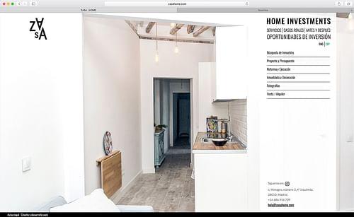 Diseño y desarrollo web Zasa Home - Creación de Sitios Web