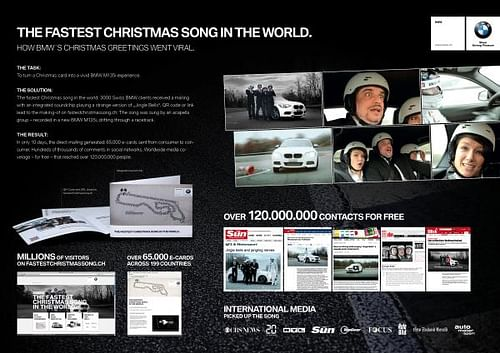 THE FASTEST CHRISTMAS SONG - Publicidad
